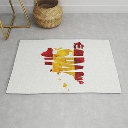 Espana / Spain Typographic Flag / Map Art Rug