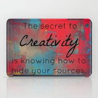 creativity iPad Cases featuring Creativity by My Joie De Vivre