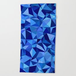 Blue tile mosaic Beach Towel
