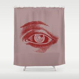 Retro Vintage Color Eye Pattern Shower Curtain