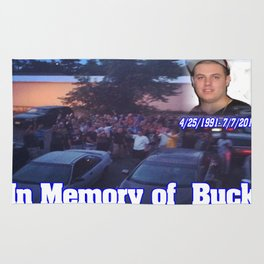 in memory of buck Rug