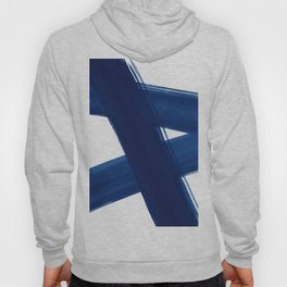 Indigo Abstract Brush Strokes | No. 4 Hoody