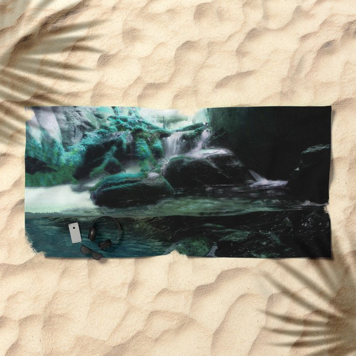 The Tourmaline Showers of the Underground Cavern Beach Towel