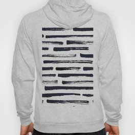 MINIMAL + MONOCHROME DRY BRUSH PATTERN Hoody