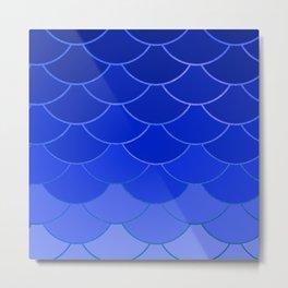 Blue Scales Metal Print