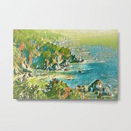 Watercolor Sea Metal Print