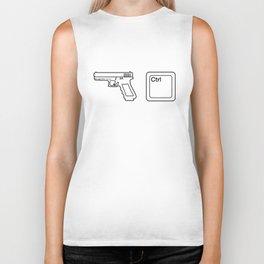 Gun Control Button Biker Tank