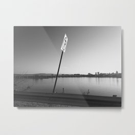 Pollution Permitted B&W Metal Print