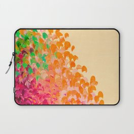 CREATION IN COLOR Autumn Infusion - Colorful Abstract Acrylic Painting Fall Splash Ombre Ocean Waves Laptop Sleeve