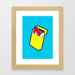 Cig Pack Framed Art Print