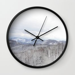 Winter in Transylvania Wall Clock