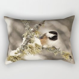 Chickadee and Old Man's Beard - Algonquin Park Rectangular Pillow