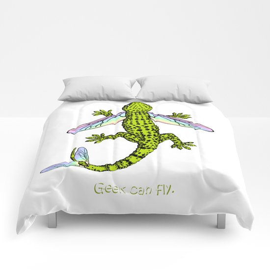 Geek can fly Comforters