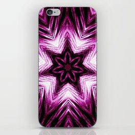 Bright Dark Violet Wine Red Abstract Blossom #purple #kaleidoscope iPhone Skin