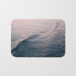 Pink Sunset Waves Bath Mat