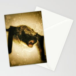 angry bat Stationery Cards