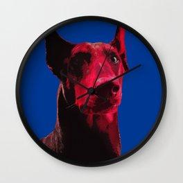 Majestic Doberman. Pop art dog. Wall Clock