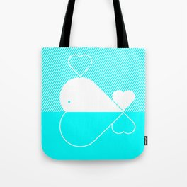 White Whale Tote Bag