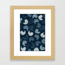 Little Blue Birds Framed Art Print