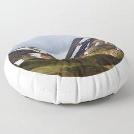 Melting Snow Mountain Floor Pillow