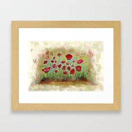 poppy island Framed Art Print