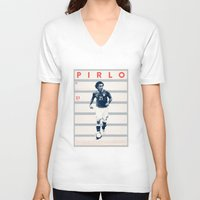 pirlo V-neck T-shirts featuring Pirlo by Dylan Giala