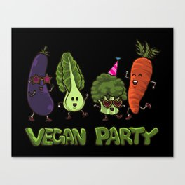 Vegan Party - Vegetables Celebration Canvas Print