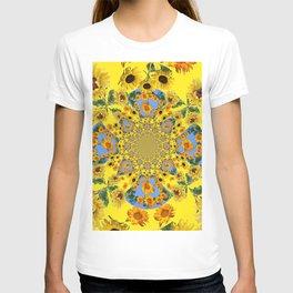 YELLOW SUNFLOWERS STORY BOOK T-shirt