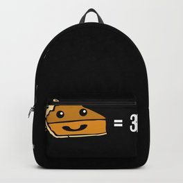 Cute Pie Short Pi Number white Backpack