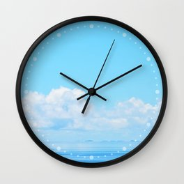 Pacific blues Wall Clock