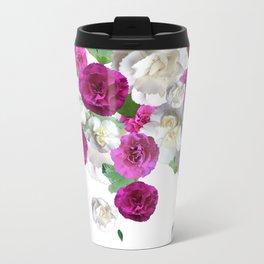 Graphic Floral Scatter Travel Mug