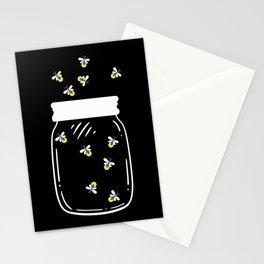 Firefly Latern Glass Of Fireflies Catch Them Stationery Cards
