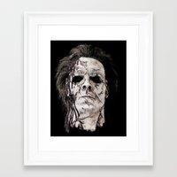 michael myers Framed Art Prints featuring michael myers by American Artist
