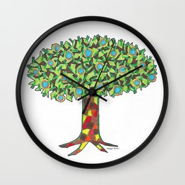 Fruit Tree Wall Clock