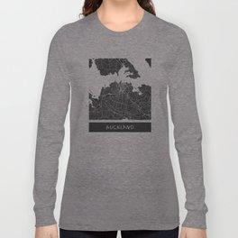 Auckland Map Long Sleeve T-shirt