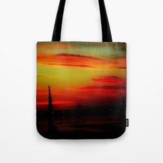 Morning at the Harbour Tote Bag