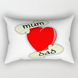 Mum and Dad Heart Rectangular Pillow