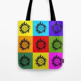 Supernatural Color Block Tote Bag