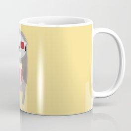Cinema Sloth with Popcorn and Glasses T-Shirt Coffee Mug