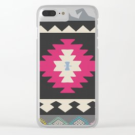 Kilim Me Softly Clear iPhone Case