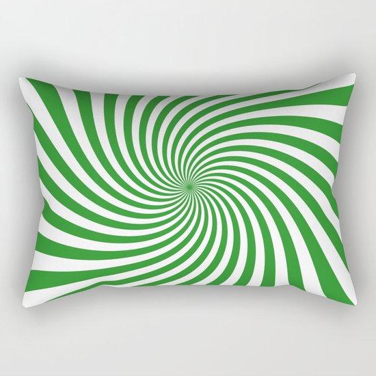 Swirl (Forest Green/White) Rectangular Pillow