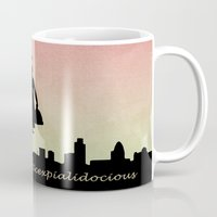 mary poppins Mugs featuring mary poppins by cubik rubik