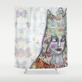 Butterfly Crown by Jane Davenport Shower Curtain