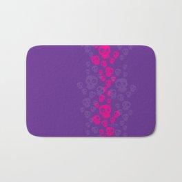 Skulls Fun - pink/purple Bath Mat