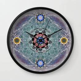 Sacred Resonance Cosmic Mandala Print Wall Clock