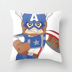 Lego Captain Throw Pillow