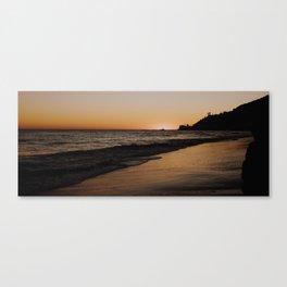 Sunsetting in Malibu Canvas Print