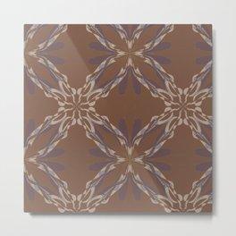 Pattern brown decoration Metal Print