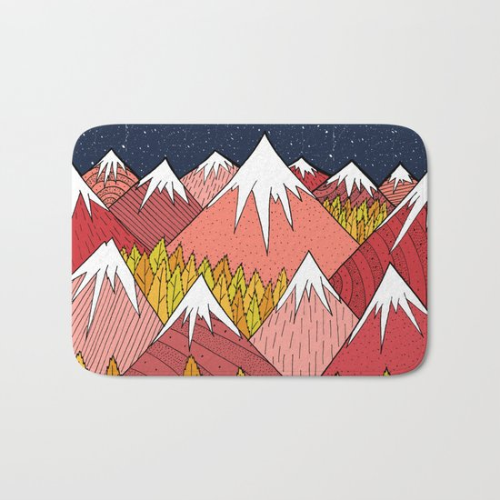 The mountains in the forest Bath Mat