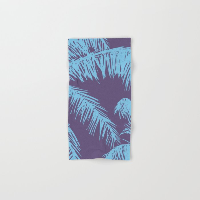 Ultra Violet Palm Print Hand & Bath Towel